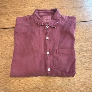 Red Long Sleeve Button Down Tommy Bahama Shirt